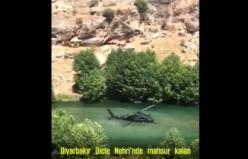 Dicle Nehri'nde mahsur kalan, çoğu çocuk 12 vatandaşımızın kurtarılması