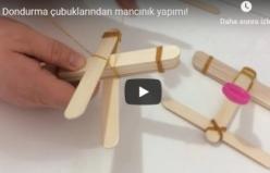 Dondurma çubuklarından mancınık yapımı!