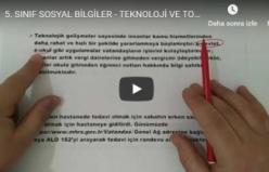 5. SINIF SOSYAL BİLGİLER - TEKNOLOJİ VE TOPLUM - 4.ÜNİTE