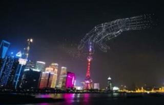 Çin'de 3 bin 51 drone ile yapılan şov Guinness...