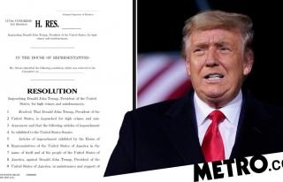 Impeachment articles drawn up against Donald Trump...