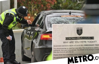 Police stop drivers and ask 'why are you here?' during...