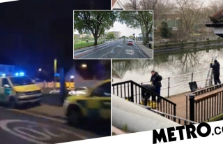 Urgent search for man who 'fell from boat into freezing...