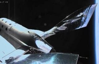Virgin Galactic'in uzay aracı ikinci uçuş testinde...