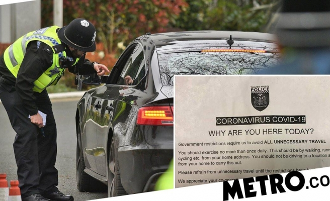 Police stop drivers and ask 'why are you here?' during crackdown on travel